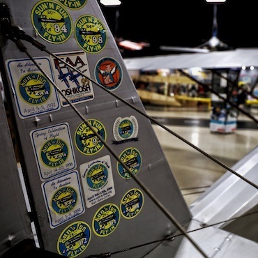 Events Sun N Fun EAA Fly In Stickers on Aircraft Tail